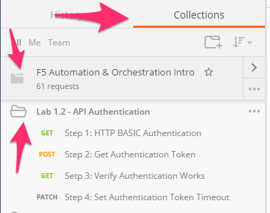 Lab 1 2 – REST API Authentication & 'example' Templates — F5